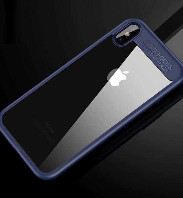 Jednoduchý silikónový kryt pre iPhone X v modrom prevedení