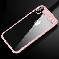 Jednoduchý silikónový kryt pre iPhone X v ružovom prevedení