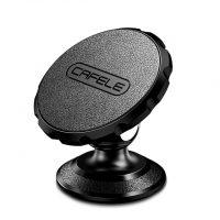 Luxusný magnetický kožený stojan do auta Cafele v čiernej farbe. Univerzálny stojan do auta na palubovú dosku. Stojan môžete využiť aj ako držiak na stôl. (2)