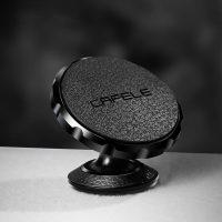 Luxusný magnetický kožený stojan do auta Cafele v čiernej farbe. Univerzálny stojan do auta na palubovú dosku. Stojan môžete využiť aj ako držiak na stôl. (3)