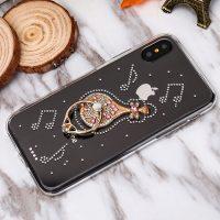 Luxusný Silikónový kryt s gitarou a kryštálikmi pre všetky typy iPhonov