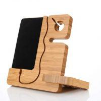 Originálna drevená nabíjacia stanica pre iPhone a Apple Watch,.