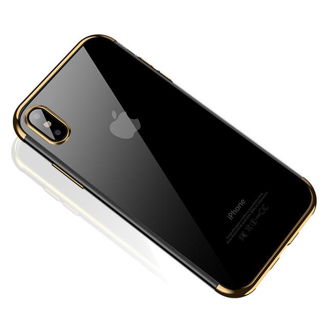 Silikónový kryt pre iPhone X so zlatým okrajom 1717909e11f