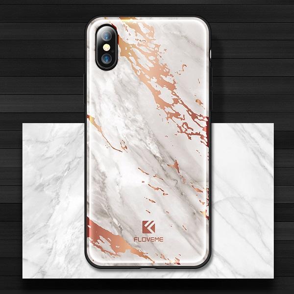 Silikónový kryt pre iPhone X vzorovaný v bielej farbe