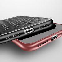 Silikónový pletený kryt Woven pre iPhone X v červenej farbe ..