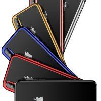 Úžasný Silikónový transparentný kryt pre iPhone X so zlatým okrajom .