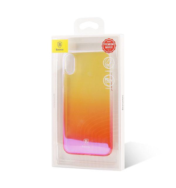 Unikátny tvrdý kryt pre iPhone X, transparentný ružový
