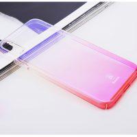 Unikátny tvrdý kryt pre iPhone X, transparentný ružový.