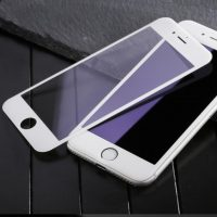 3D ochranné sklo pre iPhone 7, iPhone 8, biela farba .