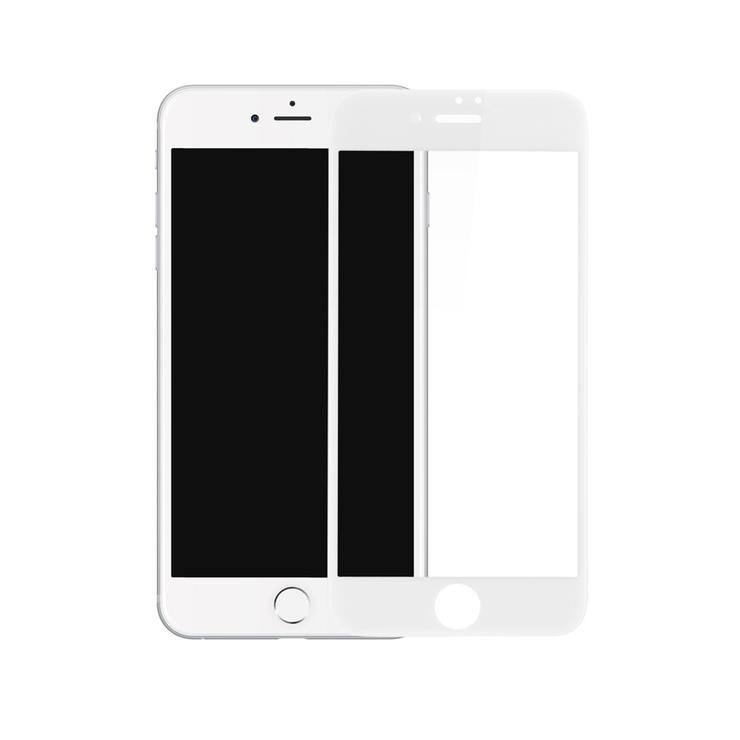 3D ochranné sklo pre iPhone 7, iPhone 8, biela farba
