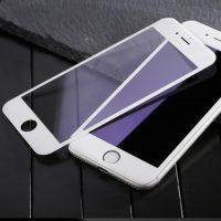 3D ochranné temperované sklo pre iPhone 7 Plus, iPhone 8 Plus, Anti-blue, biela farba ,