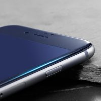 3D ochranné temperované sklo pre iPhone 7 Plus, iPhone 8 Plus, Anti-blue, čierna farba.