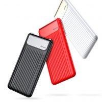 BASEUS Power Bank 10000mAh, externá batéria, LCD displej, červená farba ..