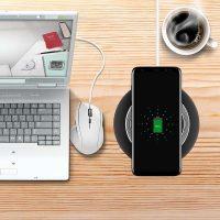 Bezdrôtová Qi nabíjacia podložka Haissky pre iPhone, čierna farba,