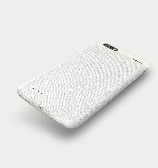 vDobíjací obal BASEUS na iPhone 7 a iPhone 8, v bielej farbe, 2500 mAh