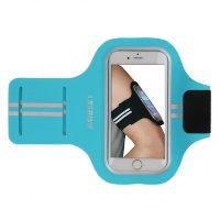 Športové púzdro Haissky na behanie pre iPhone 6, 6S, 7, 8 v modrej farbe
