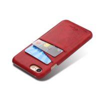 Kryt na kreditnú alebo debetnú kartu AOKIN pre iPhone 8 v červenej farbe (1)