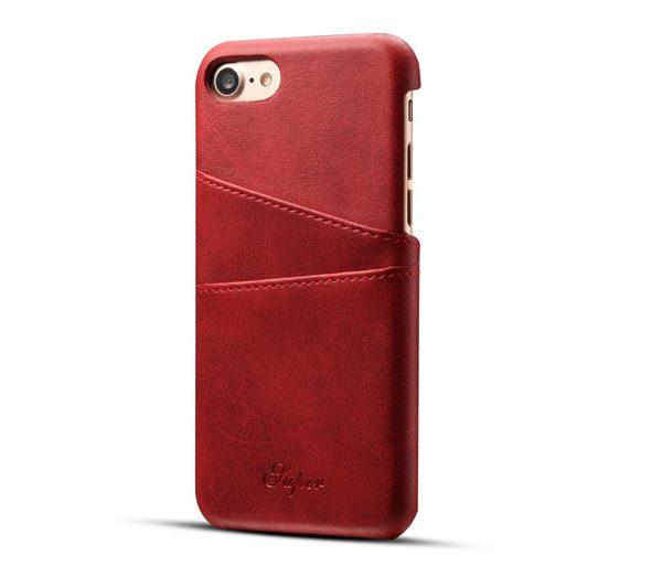 Kryt na kreditnú alebo debetnú kartu AOKIN pre iPhone 8 v červenej farbe (2)