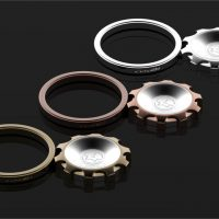 Luxusný kovový ozubený prstový držiak na mobil vo farbách (3)