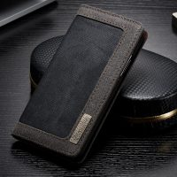 Luxusné magnetické knižkové púzdro pre iPhone X, čierna farba