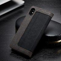 Luxusné magnetické knižkové púzdro pre iPhone X, čierna farba.