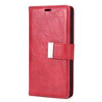 Luxusné magnetické otváracie púzdro pre iPhone X, červená farba