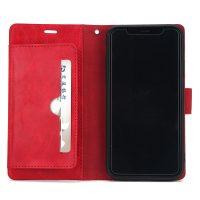 Luxusné magnetické otváracie púzdro pre iPhone X, červená farba.