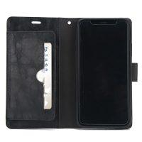 Luxusné magnetické otváracie púzdro pre iPhone X, čierna farba .