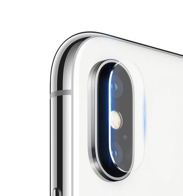Ochranná sklenená fólia pre zadnú kameru iPhonu X, 2ks v balení