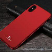 Originálny kryt Floveme na iPhone X, červená farba .