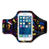 Športové púzdro Haissky na behanie pre iPhone 6, 6S, 7, 8 s farebnými športovcami