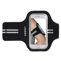 Športové púzdro Haissky na behanie pre iPhone 6, 6S, 7, 8 v čiernej farbe