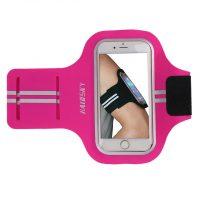 Športové púzdro Haissky na behanie pre iPhone 6, 6S, 7, 8 v ružovej farbe