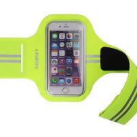 Športové púzdro Haissky na behanie pre iPhone 6, 6S, 7, 8 v zelenej farbe ,,