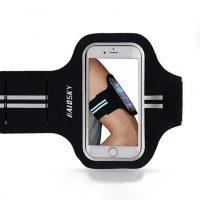 Športové púzdro Haissky na behanie pre iPhone 6 Plus, 6S Plus, 7 Plus, 8 Plus v čiernej farbe