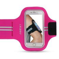 Športové púzdro Haissky na behanie pre iPhone 6 Plus, 6S Plus, 7 Plus, 8 Plus v ružovej farbe