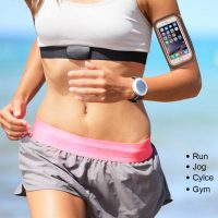 Športové púzdro na behanie pre iPhone 6, 6S, 7, 8 v ružovo-sivej farbe,,