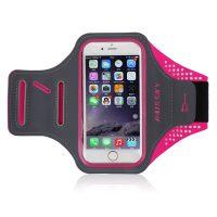 Športové púzdro na behanie pre iPhone 6, 6S, 7, 8 v ružovo-sivej farbe