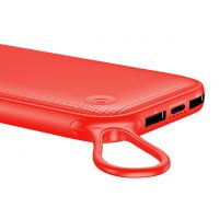 Štýlová Baseus power bank 20000 mAH, externá batéria, červená farba.