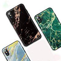 Štýlový vzorovaný kryt Floveme pre iPhone X, čierna farba,