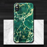 Štýlový vzorovaný kryt Floveme pre iPhone X, zelená farba