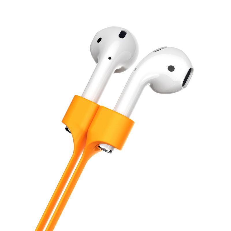 Magnetický silikónový popruh pre Apple AirPods, oranžová farba