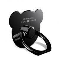 Štýlový držiak do ruky na iPhone v tvare macka, čierna farba