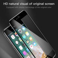 5D ochranné sklo pre iPhone 7 a iPhone 8, HD definiton, čierna farba (2)