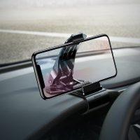 Flexibilný 360 stupňový stojan do auta Baseus v čiernej farbe