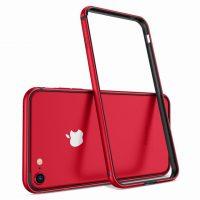 Luxusný hliníkový bumper pre iPhone 8, červená farba