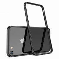 Luxusný hliníkový bumper pre iPhone 8, čierna farba