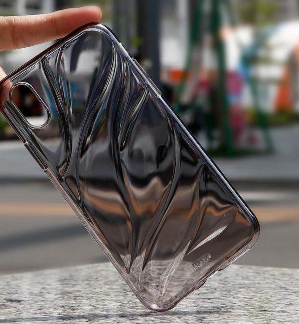 Transparentný silikónový Baseus kryt pre iPhone X v čiernom prevedení