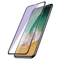 Tvrdené 6D ochranné sklo pre iPhone X, Anti-blue - šetrí zrak