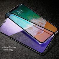 Tvrdené 6D ochranné sklo pre iPhone X, Anti-blue - šetrí zrak ,,